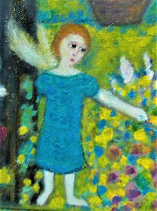 """(CreativeWork) """"Fairy dust """" by Catherine Walker. Acrylic Paint. Shop online at Bluethumb."""