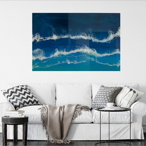 (CreativeWork) Ocean Blue by Tom Roso. Resin. Shop online at Bluethumb.
