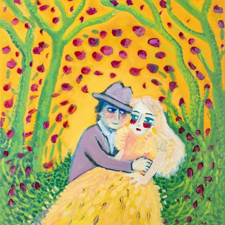 (CreativeWork) Newlyweds in a Forest by Amanda Falvo. Acrylic Paint. Shop online at Bluethumb.