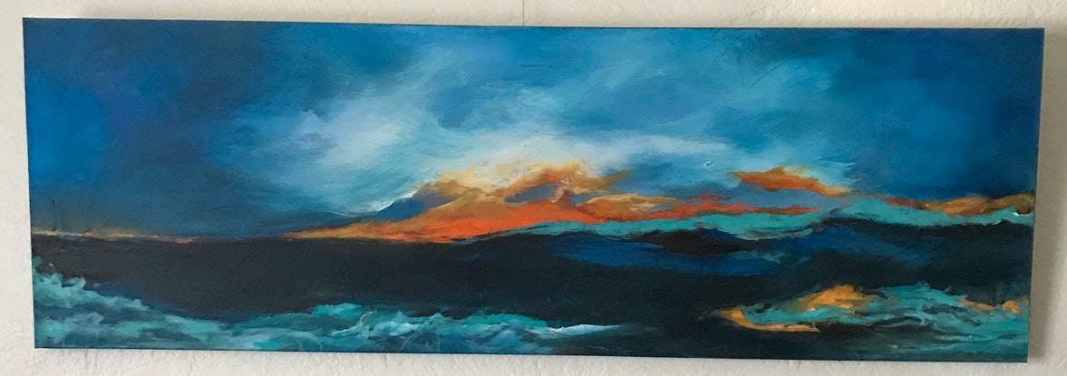 (CreativeWork) The Cape  -Yallingup by Vania Lawson. Acrylic Paint. Shop online at Bluethumb.