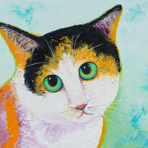 (CreativeWork) CALVIN THE CALICO CAT by Jan Matson. #<Filter:0x0000556b34ddbae0>. Shop online at Bluethumb.