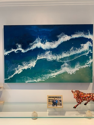 (CreativeWork) Ocean Time by Tom Roso. Resin. Shop online at Bluethumb.
