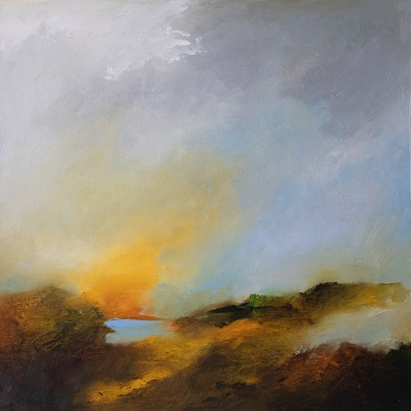 (CreativeWork) Abstract landscape oil painting  -  A Tribute  by Lamice Ali. Oil Paint. Shop online at Bluethumb.
