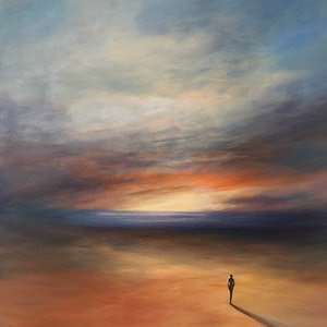 (CreativeWork) Solitude by Kathryn Johnston. Acrylic Paint. Shop online at Bluethumb.