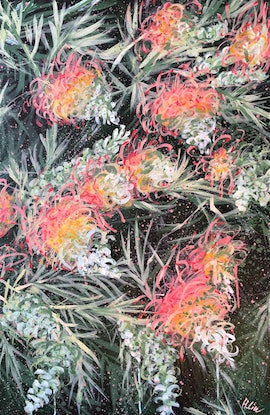 (CreativeWork) Courageous Love - Grevillea Peaches and Cream - Limited Edition Giclée print Ed. 1 of 100 by HSIN LIN. Print. Shop online at Bluethumb.