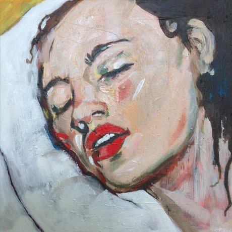 (CreativeWork) A study of sleep by Tanya Pink. Acrylic Paint. Shop online at Bluethumb.