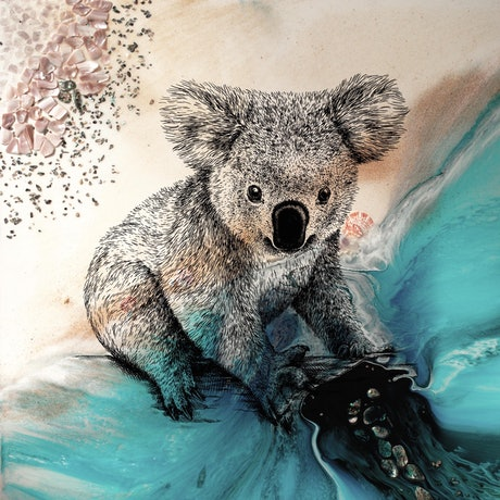(CreativeWork) Koala. Print for WWF koala conservation. Limited Edition Print Ed. 2 of 25 by Marie Antuanelle. Print. Shop online at Bluethumb.