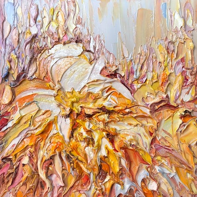 (CreativeWork) Bunch of love  No 10 by Liliana Gigovic. Oil Paint. Shop online at Bluethumb.