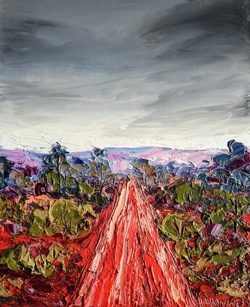 (CreativeWork) Clay Road 2 by Angela Hawkey. Oil Paint. Shop online at Bluethumb.