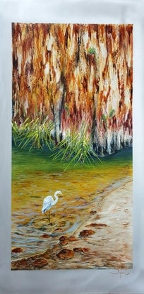 (CreativeWork) Spirit of calm by Suzy French. Oil Paint. Shop online at Bluethumb.