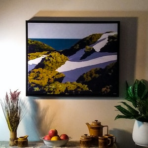 (CreativeWork) Dunes 1  by Colin Madgwick. Oil Paint. Shop online at Bluethumb.