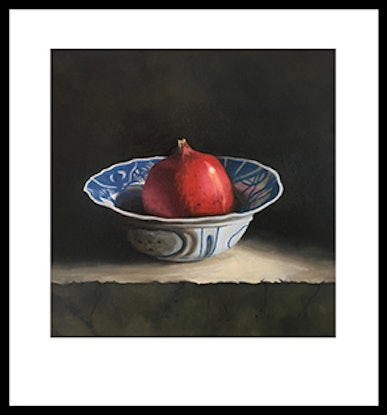 (CreativeWork) Pomegranate in bowl Ed. 1 of 20 by Barbara Harkness. Print. Shop online at Bluethumb.