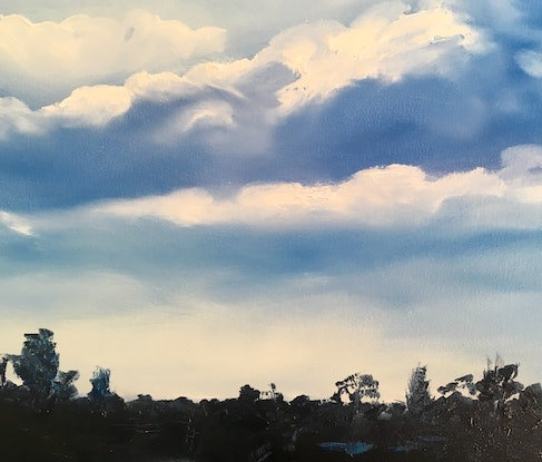 (CreativeWork) Waikato River by Meredith Howse. Oil Paint. Shop online at Bluethumb.