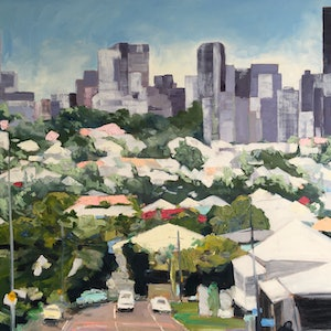 (CreativeWork) Queenslander by Meredith Howse. Oil Paint. Shop online at Bluethumb.