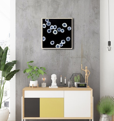 (CreativeWork) Orbicular Bloom IX – Original Abstract Painting Framed by Jacquelyn Stephens. Acrylic Paint. Shop online at Bluethumb.
