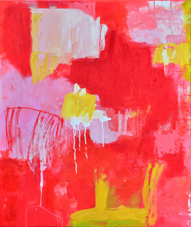 (CreativeWork) Red Sands by Lydie Paton. Mixed Media. Shop online at Bluethumb.