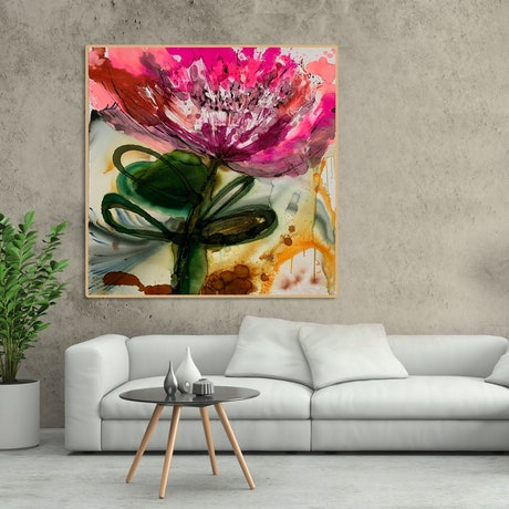 (CreativeWork) Abstract Floral by BAKER COLLECTION. Mixed Media. Shop online at Bluethumb.