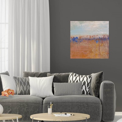 (CreativeWork) Wide Brown Land II by Andrea Edwards. Acrylic Paint. Shop online at Bluethumb.