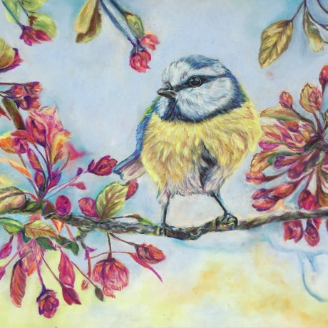 (CreativeWork) Morning Foraging by Lucy Mengler. Other Media. Shop online at Bluethumb.