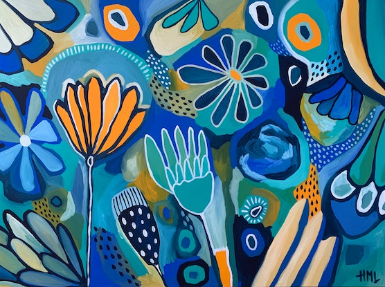 (CreativeWork) Daydreaming  by Hayley Mischief Lord. Acrylic Paint. Shop online at Bluethumb.