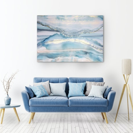(CreativeWork) Blue Wave -large 1450mm x 980mm  by __pete+chrissy angelheart. Mixed Media. Shop online at Bluethumb.