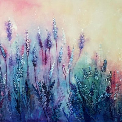 (CreativeWork) Lavender Green, Dilly Dilly by Lucinda Leveille. Watercolour Paint. Shop online at Bluethumb.