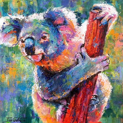 (CreativeWork) Koala - 12 by Jos Coufreur. Acrylic Paint. Shop online at Bluethumb.