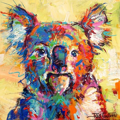 (CreativeWork) Koala - 14 by Jos Coufreur. Acrylic Paint. Shop online at Bluethumb.