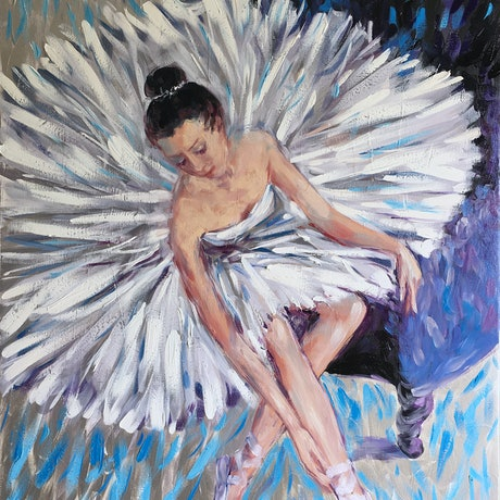 (CreativeWork) Ballet Dancer by Irina Redine. Oil Paint. Shop online at Bluethumb.