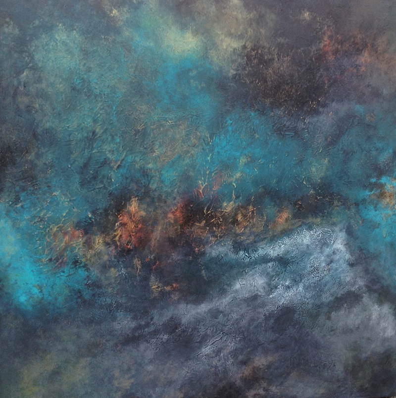 (CreativeWork) Mysterious Mist by Magdalena Knight. Acrylic Paint. Shop online at Bluethumb.