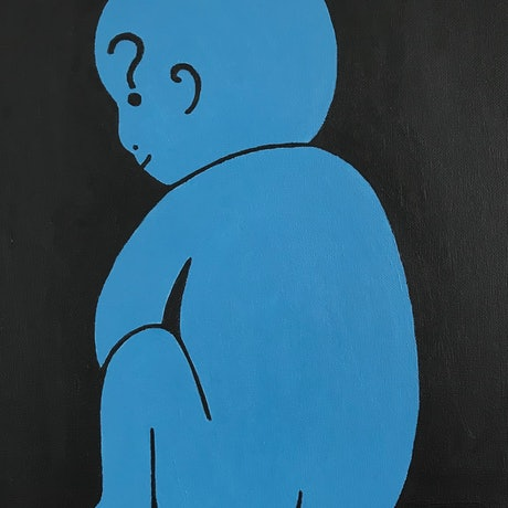(CreativeWork) Why? by MLD Art. Acrylic Paint. Shop online at Bluethumb.