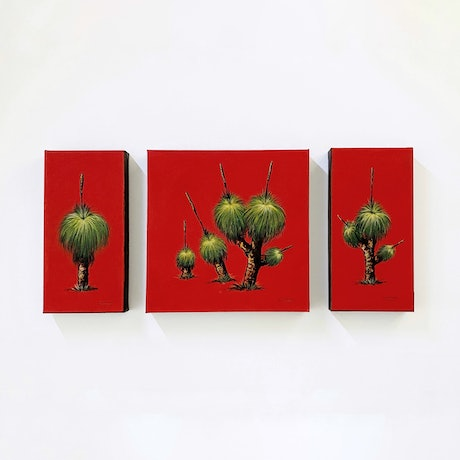 (CreativeWork) Grass Trees by Wendy A. Greenwood. Acrylic Paint. Shop online at Bluethumb.