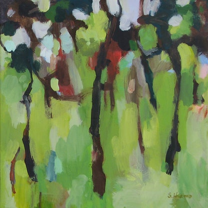 (CreativeWork) Forest dance by Susan Lhamo. Acrylic Paint. Shop online at Bluethumb.