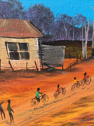 (CreativeWork) COMMUNITY- HOME TOWN by Pongillj Miller. Acrylic Paint. Shop online at Bluethumb.
