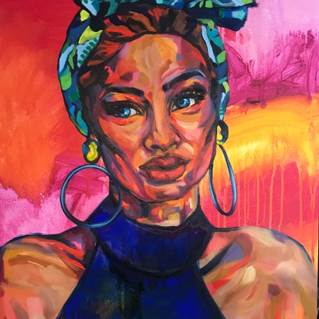 (CreativeWork) Cuban Nights by Sarah Philip. Oil Paint. Shop online at Bluethumb.