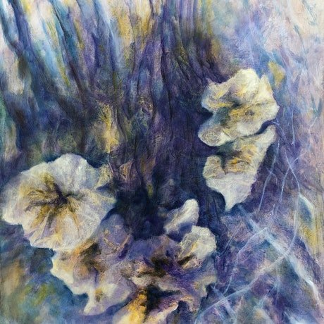 (CreativeWork) Currency Creek Fungi by Madeleine Elkin. Oil Paint. Shop online at Bluethumb.
