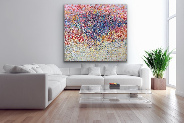 (CreativeWork) Dancing Stars by Theo Papathomas. Oil Paint. Shop online at Bluethumb.