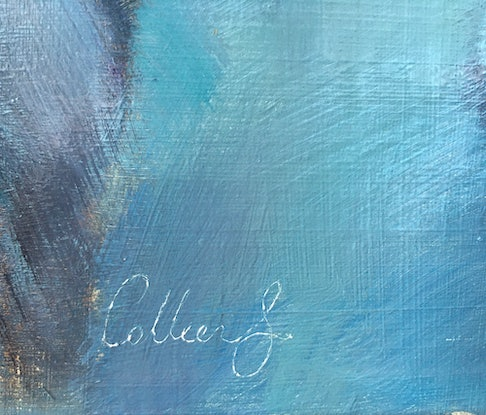 (CreativeWork) Blue by Colleen Stapleton. Oil Paint. Shop online at Bluethumb.