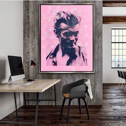 (CreativeWork) James Dean Pink LV   by Shane Bowden. Acrylic Paint. Shop online at Bluethumb.