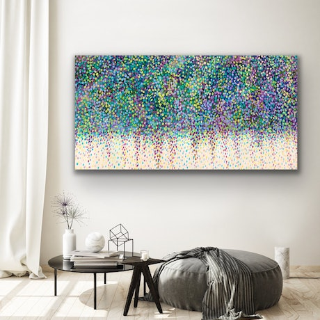 (CreativeWork) Weeping Blossoms by Theo Papathomas. Acrylic Paint. Shop online at Bluethumb.