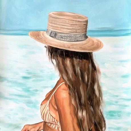 (CreativeWork) In The Maldives by Holly Harper. Oil Paint. Shop online at Bluethumb.