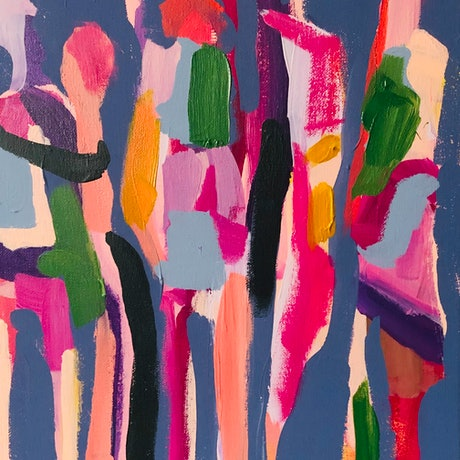 (CreativeWork) Dance moves 2 by Sharon Monagle. Acrylic Paint. Shop online at Bluethumb.