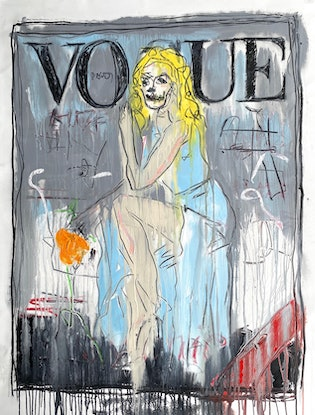 (CreativeWork) VOGUE +ORANGES  by Shane Bowden. Acrylic Paint. Shop online at Bluethumb.