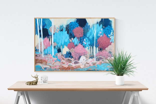 (CreativeWork) Dry River by Clair Bremner. Acrylic Paint. Shop online at Bluethumb.