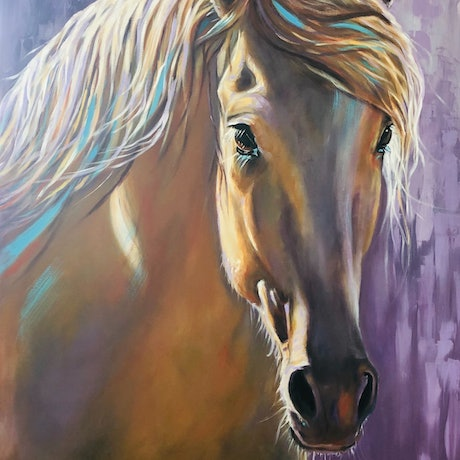 (CreativeWork) Moet by Shannan Whitby. Oil Paint. Shop online at Bluethumb.