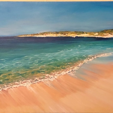 (CreativeWork) Shark Bay Western Australia by Shannan Whitby. Oil Paint. Shop online at Bluethumb.