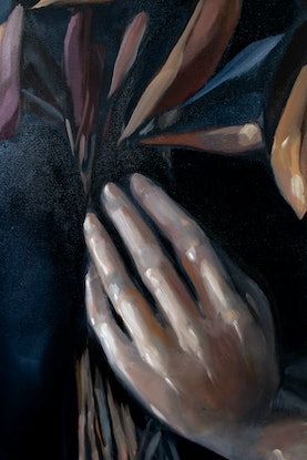 (CreativeWork) Night Shade by Sam Suttie. Oil Paint. Shop online at Bluethumb.