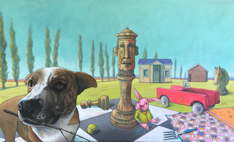 (CreativeWork) The Games We Play by Mary Conder. Acrylic Paint. Shop online at Bluethumb.