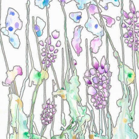 (CreativeWork) Lavender by BAY Contemporary Artist. Acrylic. Shop online at Bluethumb.