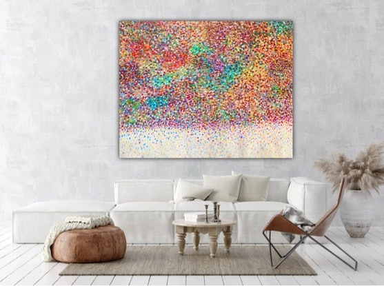 (CreativeWork) Petals of Love  by Theo Papathomas. Acrylic Paint. Shop online at Bluethumb.